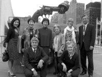 Robert Croonquist and Kathleen Sullivan (kneeling), Rachel Clark, Toshiko Tanaka, Reiko Yamada, Shigeko Sasamori, Cynthia Miller and Hiro Sakurai (standing)