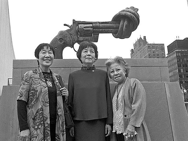 Toshiko Tanaka, Reiko Yamada and Shigeko Sasamori