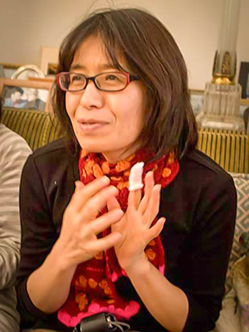 Hibakusha Stories graphic designer and second generation Nagasaki hibakusha Miyako Taguchi, December, 2010