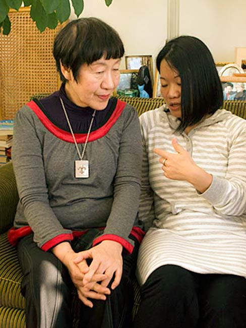 Toshiko Tanaka and Mia Niwa, December, 2010