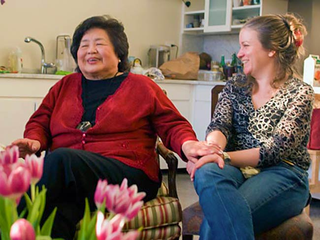 Setsuko Thurlow and Kathleen Sullivan, December, 2010