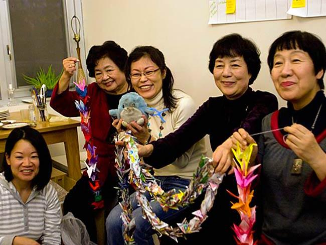 Mia Niwa, Setsuko Thurlow, Ayumi Temlock, Reiko Yamada and Toshiko Tanaka, December, 2010