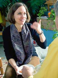 Brooklyn International High School teacher and Hibakusha Stories team member Erin Collins Fleishauer, December, 2010