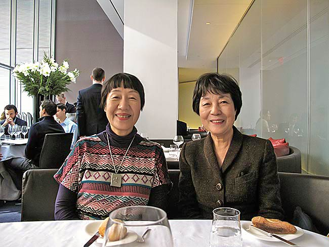 Toshiko Tanaka and Reiko Yamada at lunch at The Modern, MoMA, December, 2010