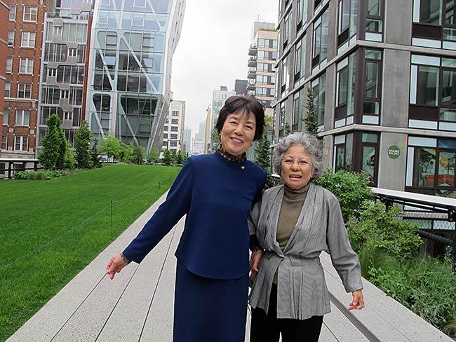 Reiko Yamada and Shigeko Sasamori at the Highline