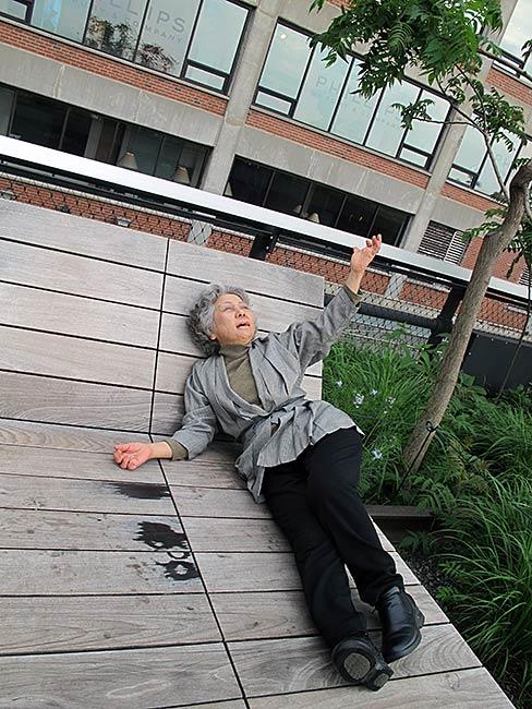 Shigeko Sasamori, photo by Reiko Yamada
