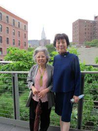 Shigeko Sasamori and Reiko Yamada on the Highline