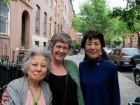Actor Karen Beaumont with Shigeko Sasamori and Reiko Yamada in Chelsea