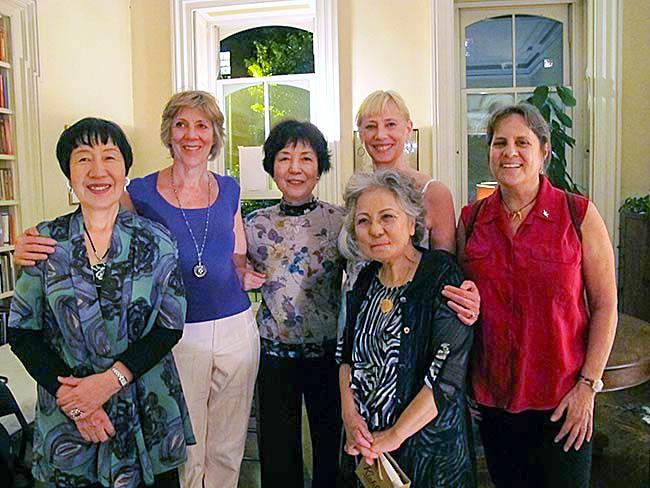 l to r) Toshiko Tanaka, Cynthia Miller, Reiko Yamada, Shigeko Sasamori, Carolina Soto and Debbie Brindis, May, 2012