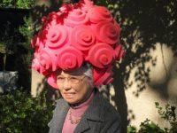 Shigeko Sasamori having fun at the home of Patrick Gordon