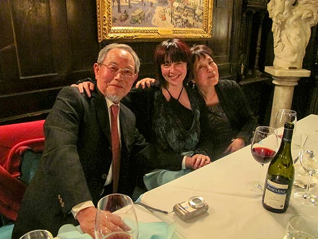 Jong-keun Lee, Marie Cochrane and Reiko Yamada at the National Arts Club, May, 2013