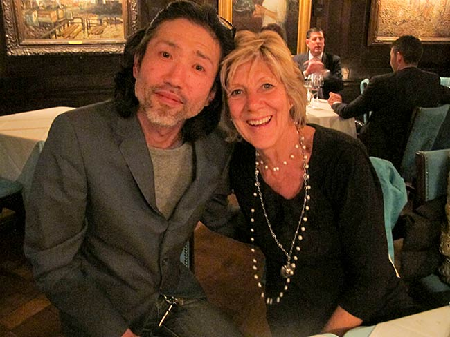 Hayato Nakao and Cynthia Miller at the National Arts Club, May, 2013