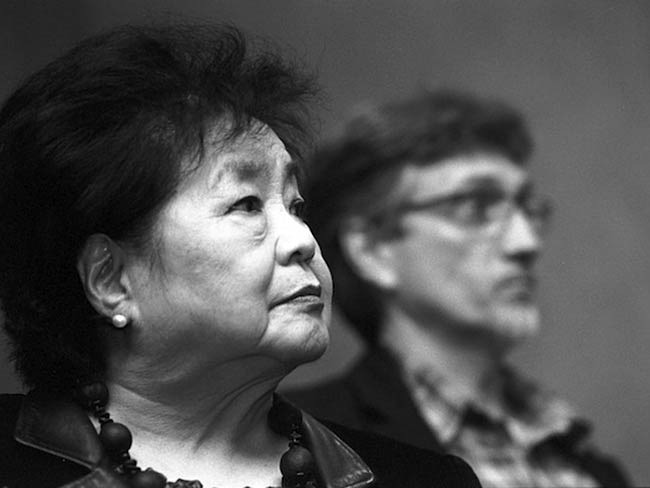 Setsuko Thurlow and Clifton T. Daniel