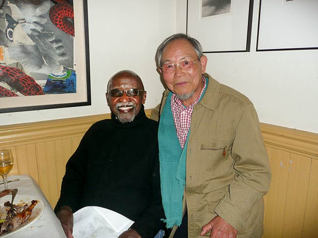 Jong-keun Lee at Café Loup with Jazz legend Junior Mance, May, 2013