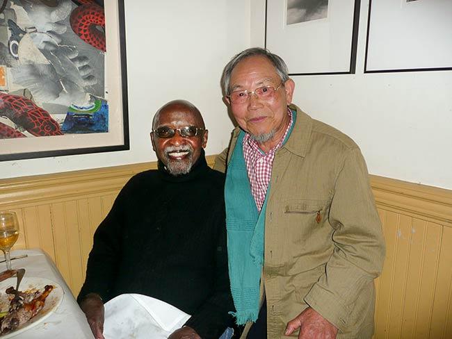 Jong-keun Lee at Café Loup with Jazz legend Junior Mance, May, 2013