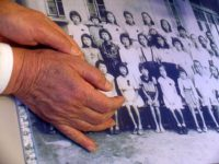 A photograph of Sakue Shimohara's classmates, many of whom died from the bombing, May, 2010