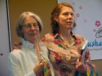 Ann Roberts and her daughter Clare Pierson express how moved they were by the day's events, May, 2010