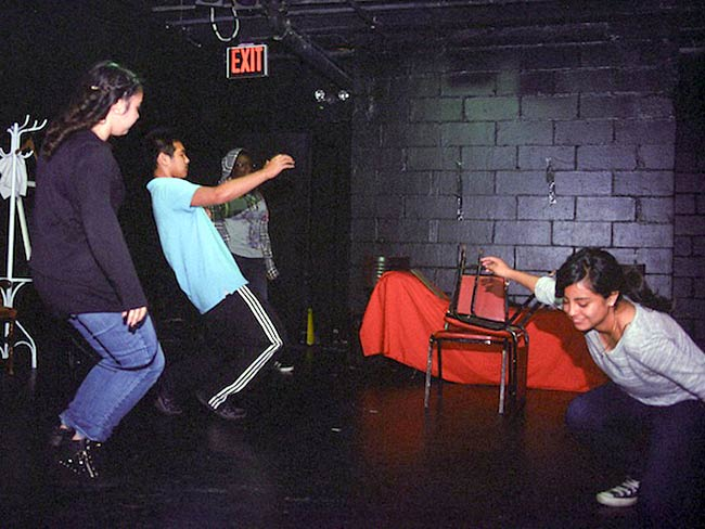 Students perform their play