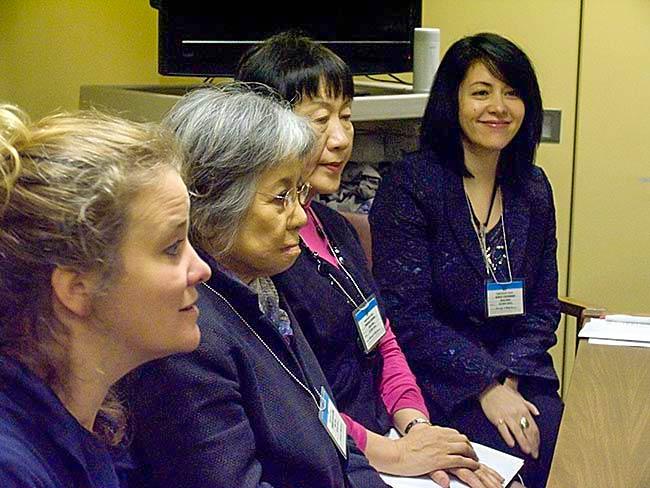 Kathleen Sullivan, Shigeko Sasamori, Toshiko Tanaka and interpreter Marie Cochrane, May, 2011