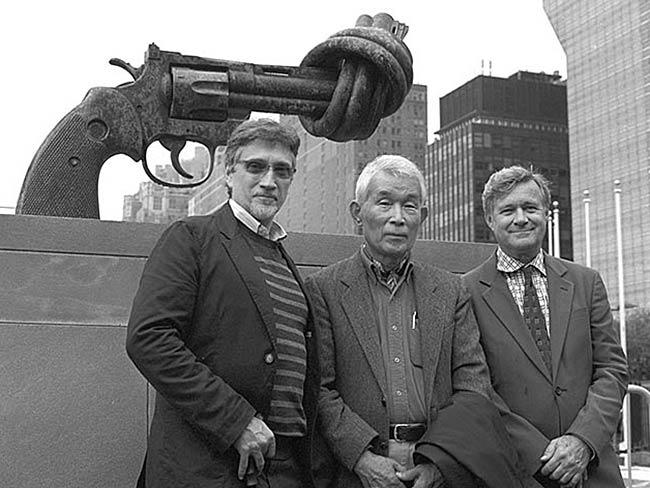 Clifton T. Daniel, Yasuaki Yamashita, Robert Croonquist at the United Nations