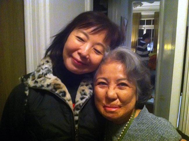 Chiori Miyagawa and Shigeko Sasamori, February, 2011