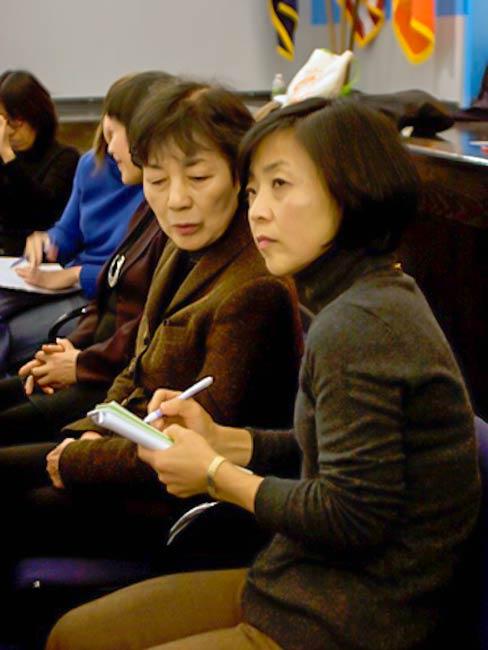 Hisayo Izumo interprets for Reiko Yamada, December, 2010