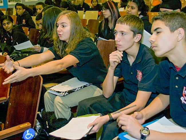Students are actively engaged in responding to what they have heard, December, 2010
