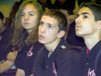 The school was filled with attentive students, December, 2010