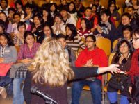 Kathleen Sullivan's introduction engages the students, December, 2010