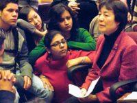 Reiko Yamada with students, December, 2010