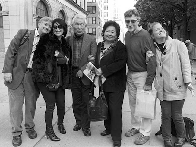 Robert Croonquist, Marie Cochrane, Yasuaki Yamashita, Setsuko Thurlow, Clifton T. Daniel, Kathleen Sullivan. Otsukaresama deshita! Congratulations on a job well done, May, 2013