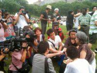 Shigeko Sasamori at the Japan Day celebration, Central Park, June, 2010