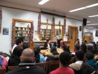 Students at Jane Addams listen to Toshiko Tanaka