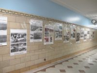 Samuel Gompers H. S. displays posters from the Hiroshima Peace Culture Foundation, May, 2012
