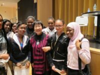 Reiko Yamada with students from Mott Haven Educational Complex, May 2012