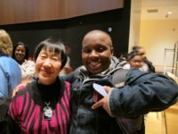 Reiko Yamada and student from Mott Haven Educational Complex, May 2012