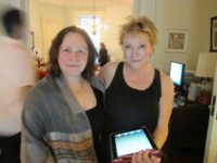 Film editor Constance Rodgers and Youth Arts New York board member Sandy Parker, May 2012