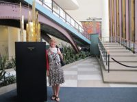 Dr. Cynthia Miller in the lobby of the United Nations Headquarters, May, 2012