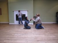 Students enact one act plays at New York Theatre Workshop, May, 2010