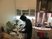 Hayato Nakao prepares delicious home-cooked Japanese meals for our visiting Fellows, October, 2012