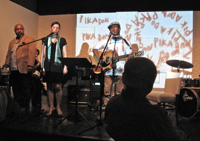 Pika Don concert for the hibakusha at Miles Café, May 2010