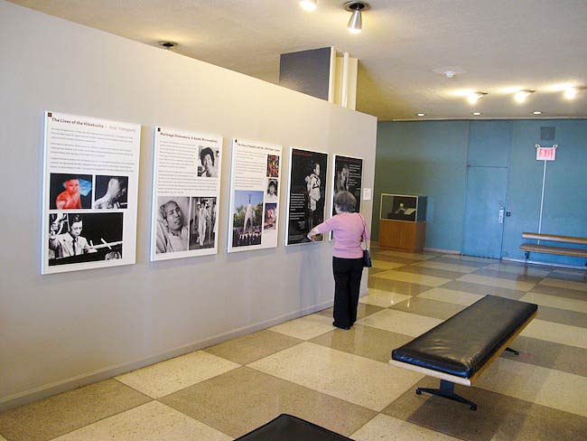 "Shigeko Sasamori at a disarmament exhibit the UN. ""I can handle my own suffering but the suffering of others is too much to bear."" May, 2010"