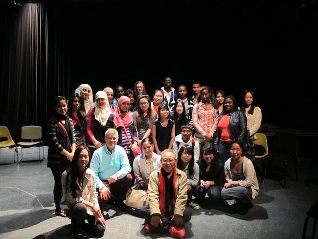 Jong-keun Lee with students from Brooklyn International High School, May, 2013