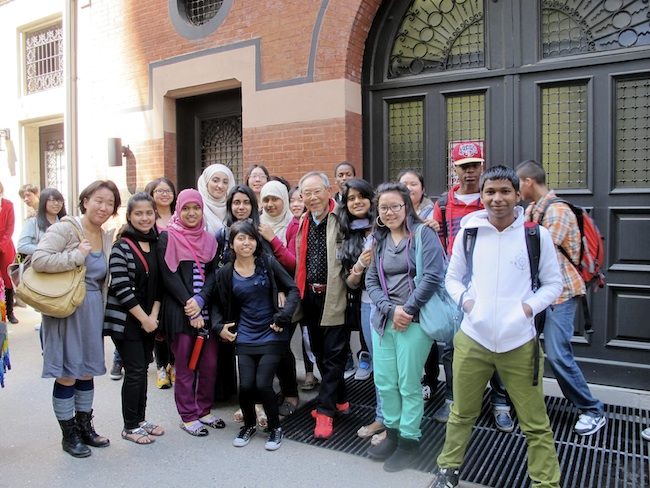 Students from Brooklyn International at Urasenke Chanoyu Center in Manhattan, May, 2013