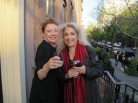 Youth Arts New York board member Sandy Parker and artist Lauren Linowitz, May, 2013