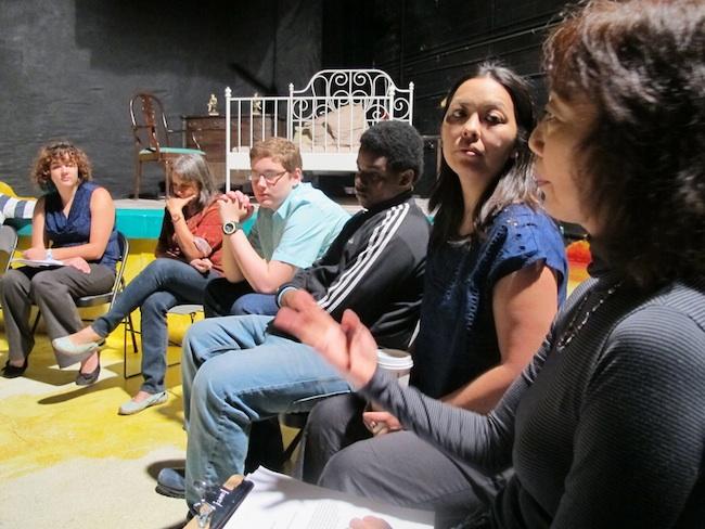 Sophia Skiles and Chiori Miyagaw with students, May, 2013