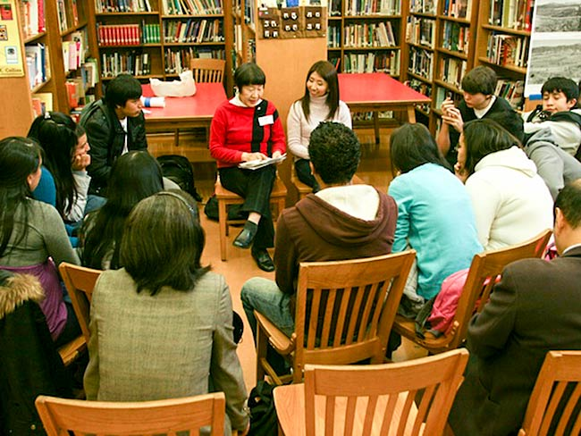 Toshiko Tanaka tells her testimony with Fumi Furman interpreting, December, 2010