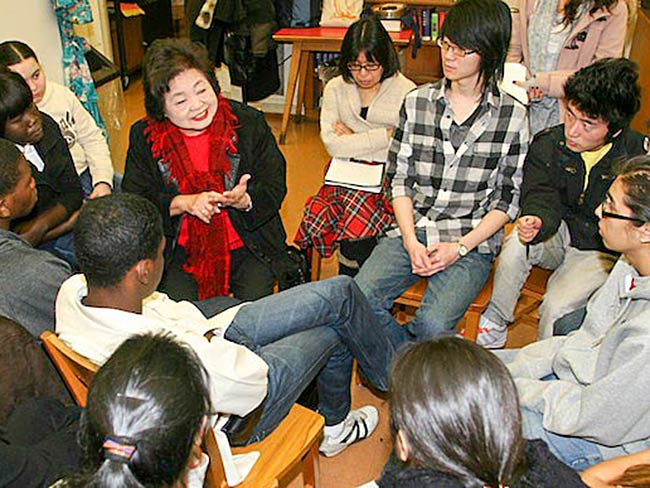 Setsuko Thurlow brings warmth and love to her testimony, December, 2010