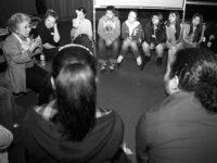 Shigeko Sasamori speaks to students, May, 2012