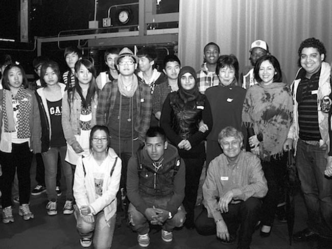 Group photo with students from Flushing International High School, May, 2012
